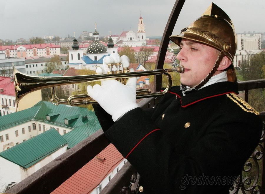Trumpeter on the tower